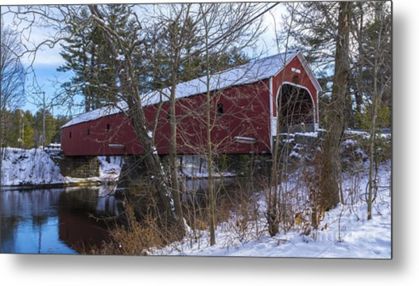 Cresson Covered Bridge. Metal Print