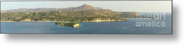 Crete Panoramic Metal Print by HD Connelly
