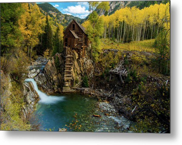Crystal Mill Metal Print