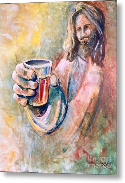 Cup Of Salvation Metal Print