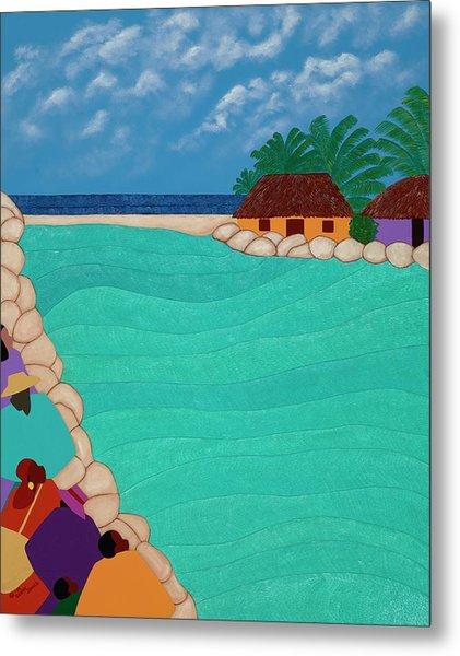 Curacao Lagoon Metal Print