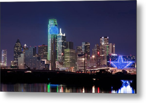 Dallas Skyline Cowboys Metal Print