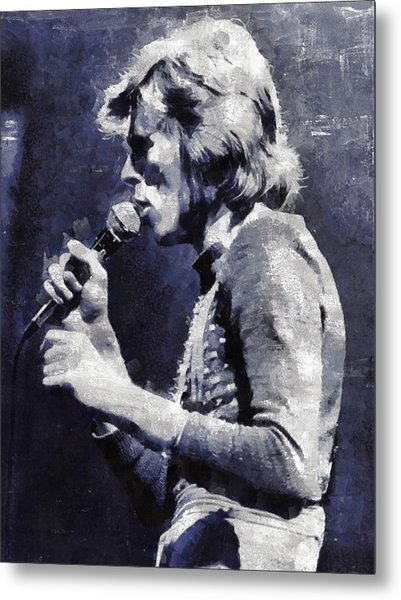 David Bowie By Mary Bassett Metal Print