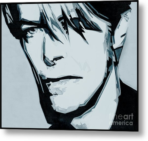 Born Under A Stone Born With A Single Voice. Bowie Metal Print