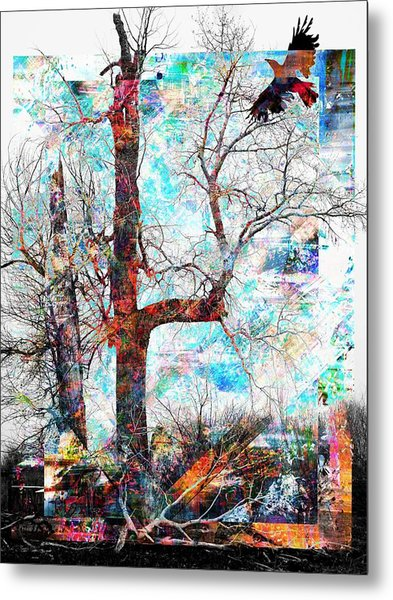 Dead Tree And Crow Metal Print