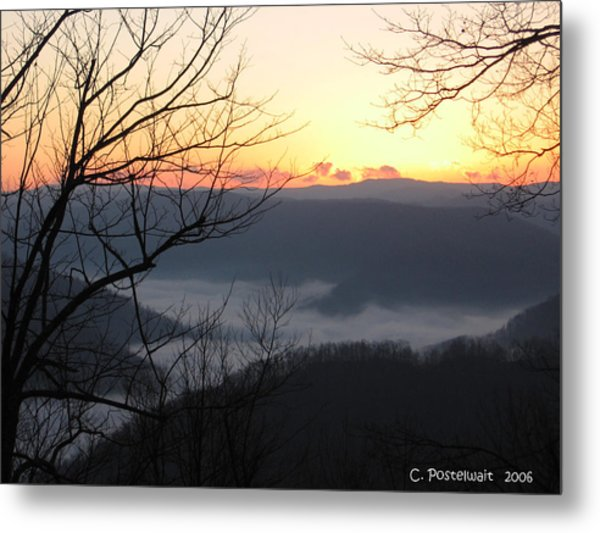 December Sunrise Metal Print by Carolyn Postelwait