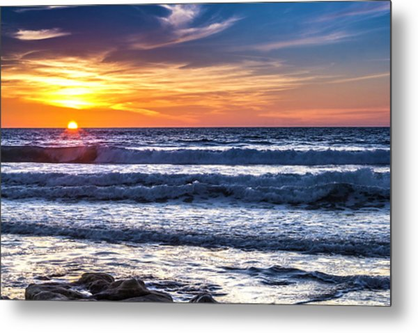 Sunset - Del Mar, California View 1 Metal Print