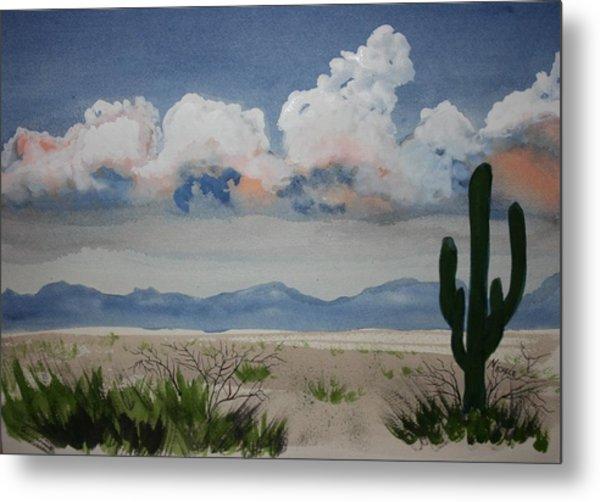 Desert Thunderheads Metal Print