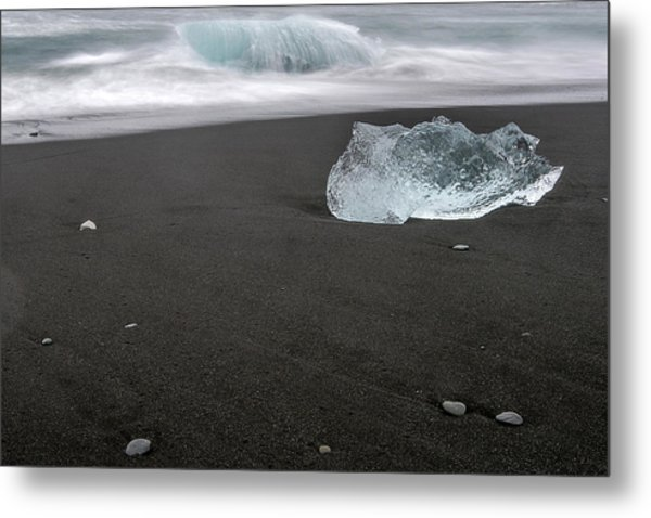 Metal Print featuring the photograph Diamonds Floating In Beaches, Iceland by Pradeep Raja PRINTS
