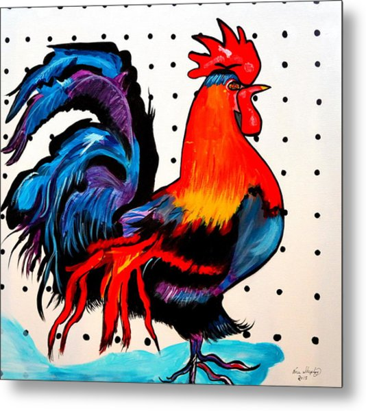 Doodle Do Rooster Metal Print