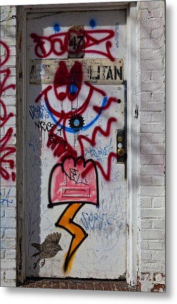Doorway Wiiliamsburg Brooklyn Metal Print by Robert Ullmann