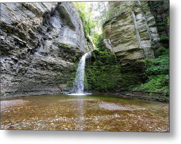 Eagle Cliff Falls In Ny Metal Print