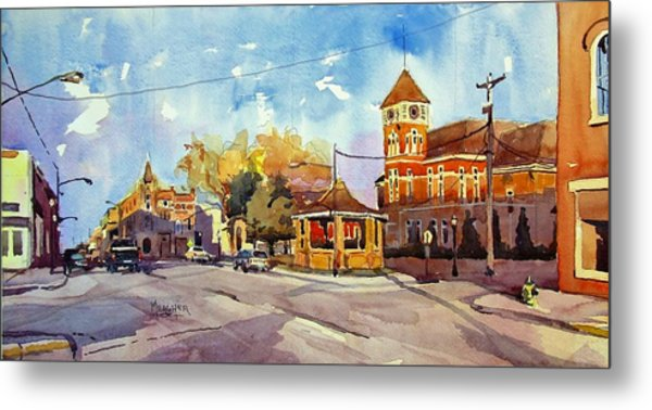 Early Morning Downtown Fairfield Metal Print