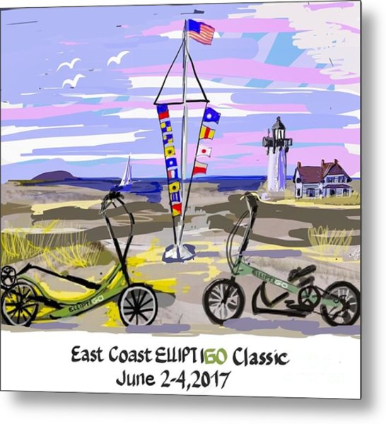 East Coast Elliptigo Classic Metal Print