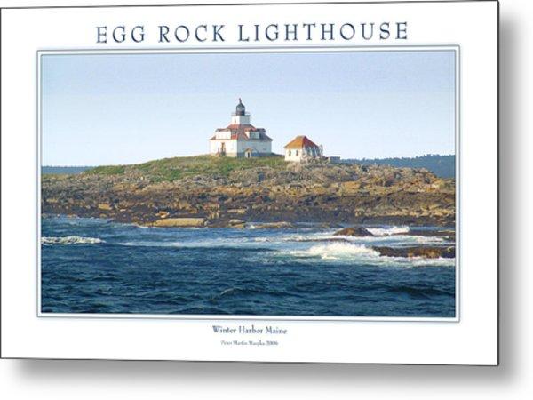 Egg Rock Island Lighthouse Metal Print by Peter Muzyka