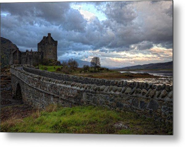 Eilean Donan Castle In The Morning Light Metal Print by Jim Dohms