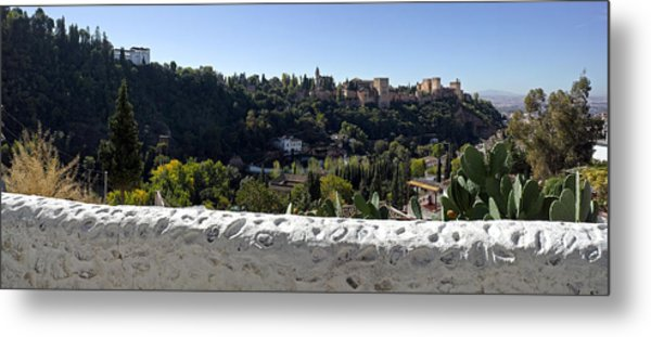 Elevated View Of Alhambra Palace Metal Print