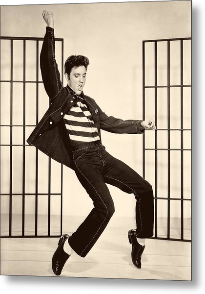 Elvis Presley In Jailhouse Rock 1957 Metal Print