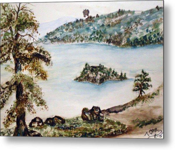 Emerald Bay Lake Tahoe Metal Print by Tammera Malicki-Wong