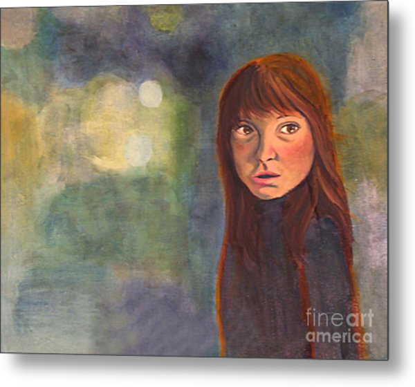 Metal Print featuring the painting Enchantment by Angelique Bowman
