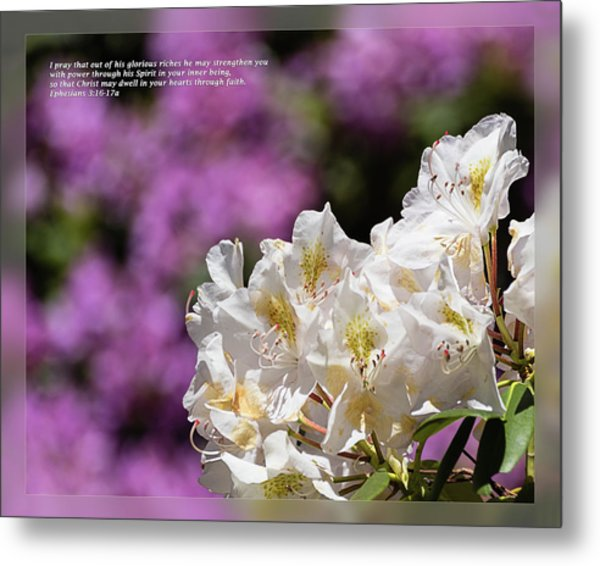 Metal Print featuring the photograph Ephesians 3 16-17a by Dawn Currie