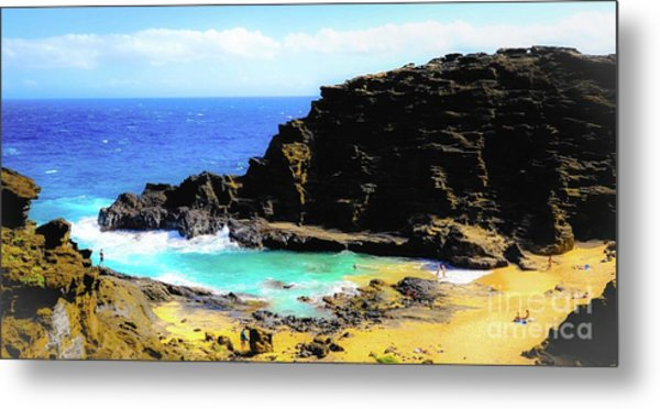 Eternity Beach - Oahu, Hawaii Metal Print by D Davila