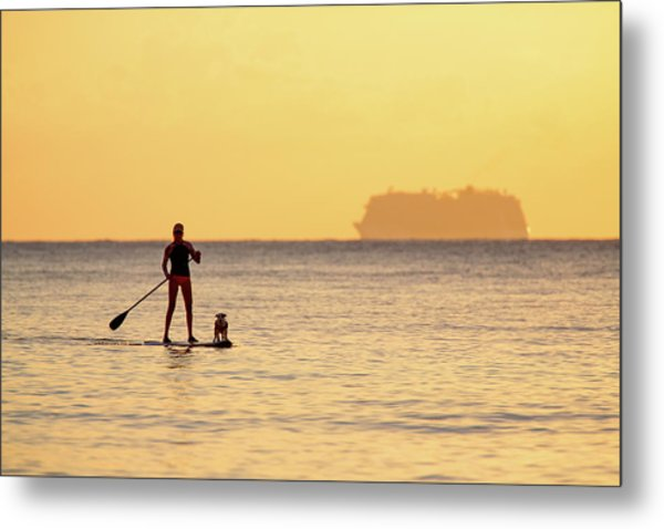 Metal Print featuring the photograph Evening Paddle by David Buhler