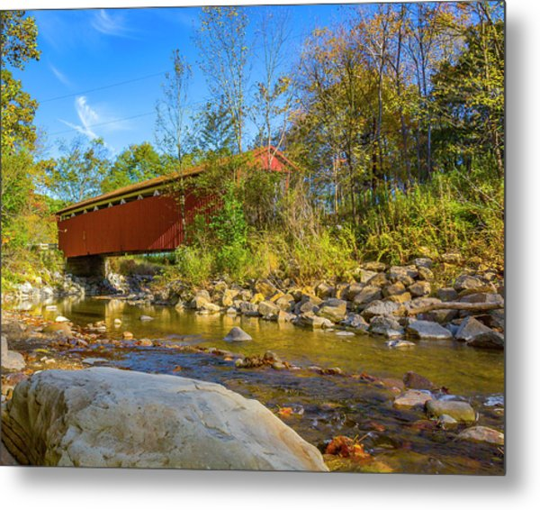 Everett Covered Bridge  Metal Print