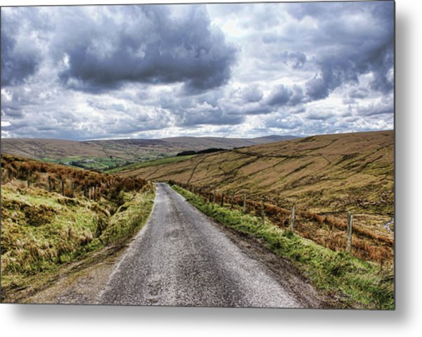 Exploring The Sperrin Mountains Metal Print