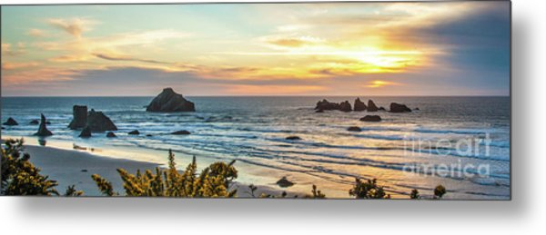 Metal Print featuring the photograph Face Rock At Sunset by Jim Adams
