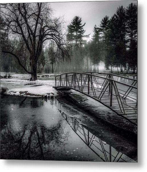 Fade To Black Metal Print