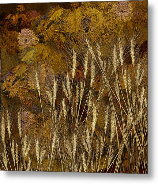 Fall Garden Metal Print by Jeff Burgess