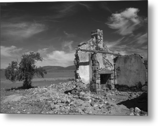 Farmhouse Cottage Ruin Flinders Ranges South Australia Metal Print by PIXELS  XPOSED Ralph A Ledergerber Photography