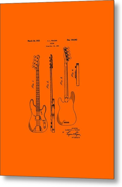 Fender Bass Guitar Patent-1953 Metal Print