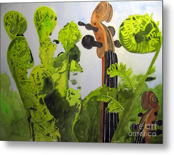 Fiddleheads Metal Print