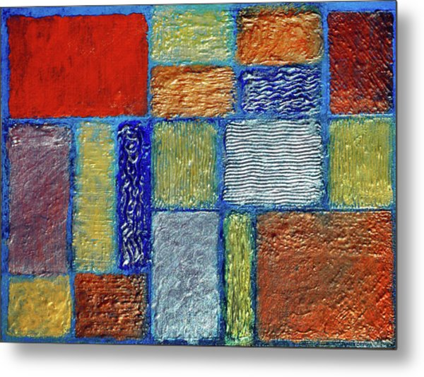 Metal Print featuring the painting Fields Of Gain by Rein Nomm
