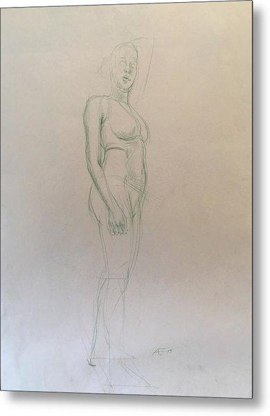 Figure Sketch Metal Print by Alejandro Lopez-Tasso