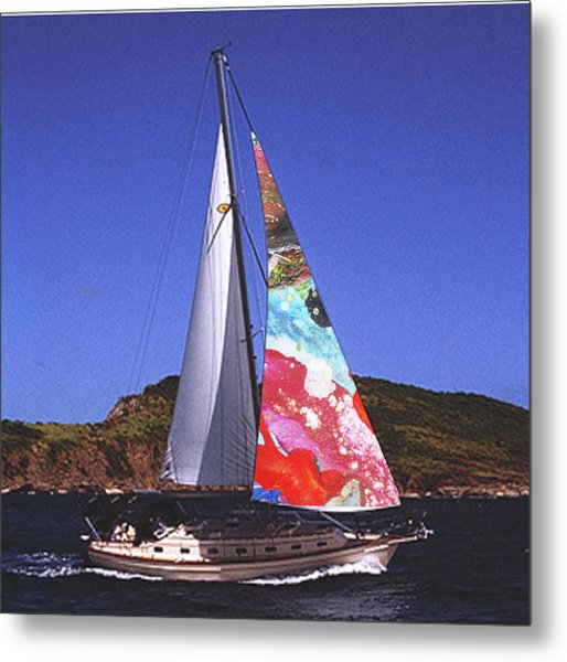 Fine Art Sails Metal Print by Dan Cope