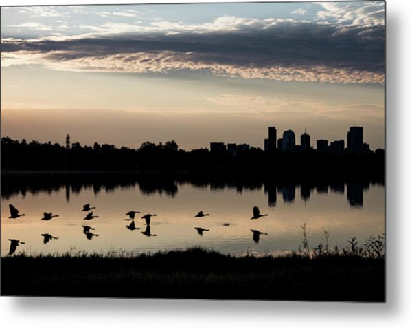 First Flight At Sunrise Metal Print