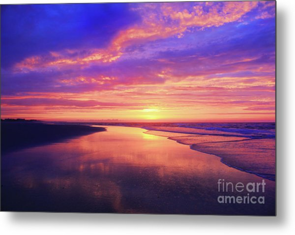 First Light At The Beach Metal Print