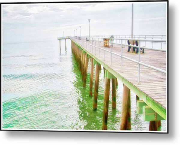 Fishing Pier, Margate, New Jersey Metal Print