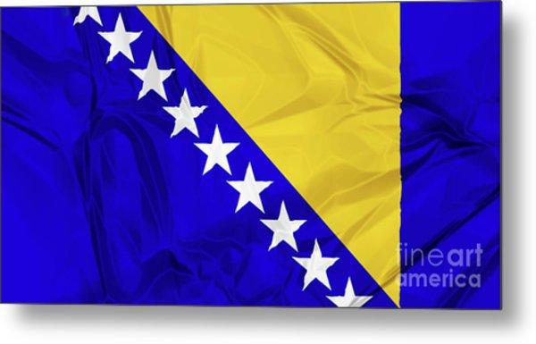 Flag Of Bosnia Metal Print