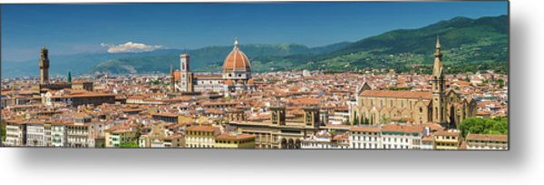Florence View From Piazzale Michelangelo - Panoramic Metal Print