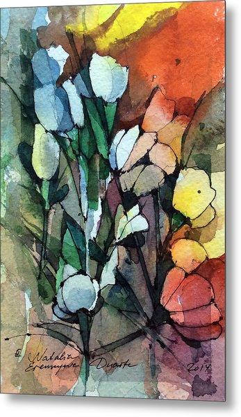 Flowers Fantasy Metal Print by Natalia Eremeyeva Duarte