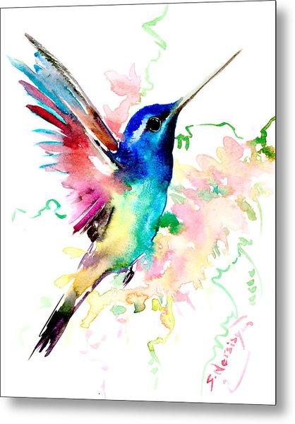 Flying Hummingbird Metal Print