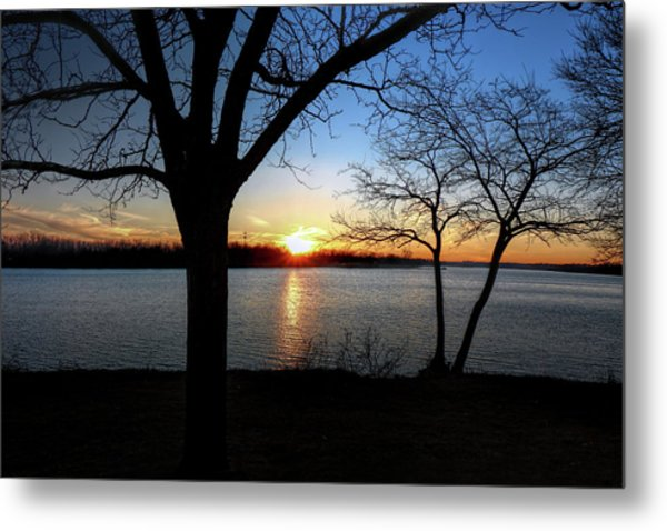 Ford Lake Sunset Metal Print