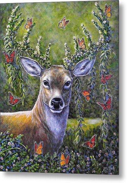 Forest Monarch Metal Print