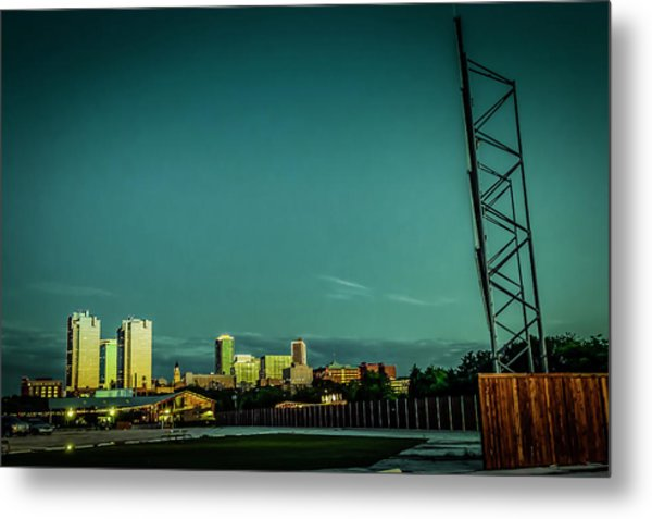 Fortworth Texas Cityscape Metal Print