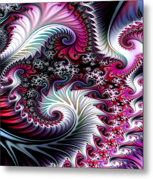 Fractal Pinks Metal Print