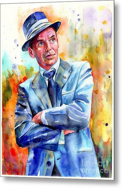 Frank Sinatra Young Painting Metal Print